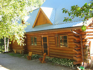 Little Blue ~ Custom Handcrafted Log House for Rent