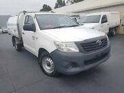 2012 Toyota Hilux TGN16R MY12 Workmate White 5 Speed Manual Cab Chassis Canley Vale Fairfield Area Preview