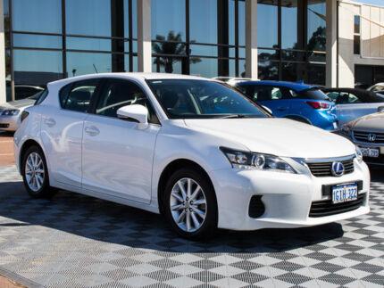 2012 Lexus CT200H ZWA10R Prestige White 1 Speed Constant Variable Hatchback Hybrid