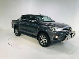 2015 Toyota Hilux GUN126R SR5 Double Cab Grey 6 Speed Sports Automatic Utility Cooee Burnie Area Preview