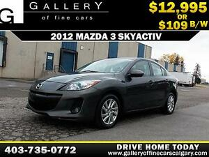 2012 Mazda 3 SkyActiv $109 bi-weekly APPLY TODAY DRIVE TODAY