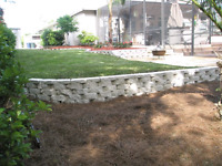 Interlocking driveway and retaining walls