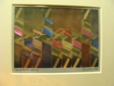 Original BEATRIZ GRAYSON Art: abstract PHOTO QUILT Study - signed, 1986