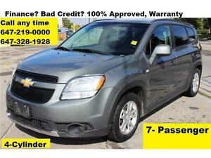 2012 Chevrolet Orlando LT Auto 4-CYL 7-SEAT FINANCE WARRANTY