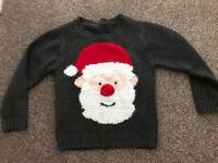 Santa Christmas Xmas jumper Age 2-3 years from Mothercare