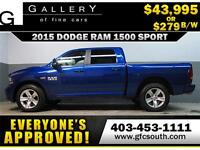 2015 DODGE RAM SPORT LIFTED *EVERYONE APPROVED* $0 DOWN $279/BW!
