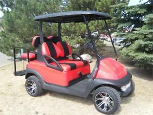 2007 Club Car Precedent Custom LowPro, Custom Seats & Blk Roof
