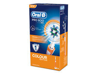 Oral B Pro 600 Crossaction Toothbrush Electric Braun 3d Orange - unbranded - ebay.co.uk