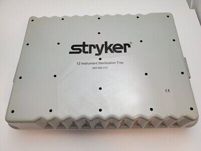 Stryker 242-000-0012 Surgical 12 Instrument Sterilization Tray