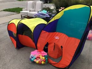 3 piece Kid's Tent and Ball Pit