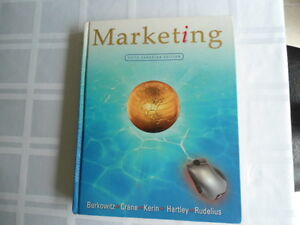 USED BOOK : MARKETING, FIFTH CANADIAN EDITION, BERKOWITZ,CRANE,K Kitchener / Waterloo Kitchener Area image 1