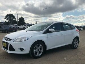 2014 Ford Focus LW MK2 MY14 Trend White 6 Speed Automatic Hatchback Fyshwick South Canberra Preview