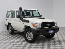 2015 Toyota Landcruiser VDJ76R MY12 Update Workmate (4x4) White 5 Speed Manual Wagon Jandakot Cockburn Area Preview