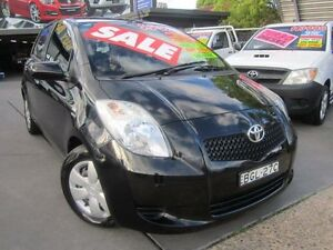 2006 Toyota Yaris NCP91R YRX Black 4 Speed Automatic Hatchback Greenacre Bankstown Area Preview