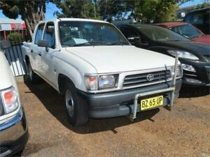 1999 Toyota Hilux LN147R 4x2 White 5 Speed Manual Utility Minchinbury Blacktown Area Preview