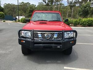 2009 Nissan Patrol Coil Over DX Red 5 Speed Manual Cab Chassis Arundel Gold Coast City Preview