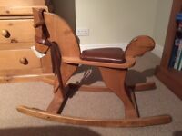 Moulin Roty traditional wooden rocking horse