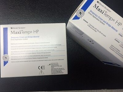 Dental H.s. Maxitemp Hp Temp.crown Bridge Equivalent To Luxatemp A2 Two Sets