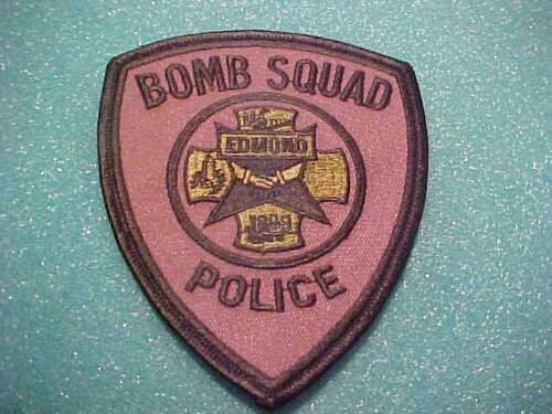 EDMOND OKLAHOMA  BOMB SQUAD POLICE PATCH SHOULDER SIZE UNUSED