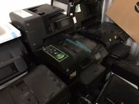 Bulk lot of HP Officejet Printers, various models, various condition.