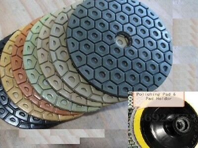Diamond Polishing Pads 7 Inch Wetdry 101 Piece Granite Stone Concrete Marble