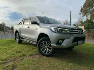 2015 Toyota Hilux GUN126R SR5 Double Cab Silver 6 Speed Sports Automatic Utility Prospect Prospect Area Preview