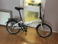 carrera transit folding bike aluminium frame 3 speed with d lock lights and helmet