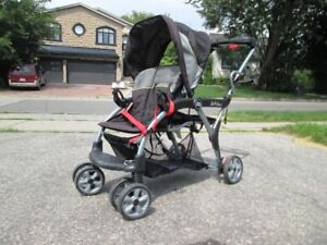 Baby items - strollers, bed, chair, snow sled