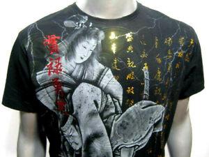 e579a33033a07 MMA Japanese Warrior Kimono Geisha Venum of Yakuza-Affliction Tattoo Art T- Shirt