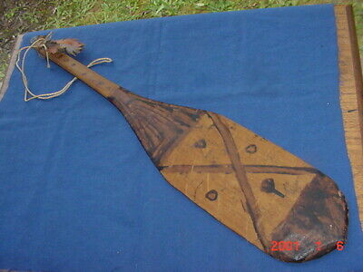 VINTAGE TICUNA INDIAN CEREMONIAL PADDLE FROM AMAZON RIVER