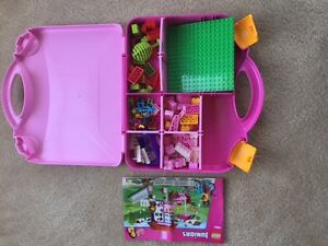 *Like new* Lego bricks + more (pink suitcase) ~ 100% complete