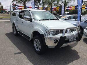 2010 Mitsubishi Triton MN MY11 GLX-R (4x4) White 5 Speed Automatic 4x4 Dual Cab Utility Broadview Port Adelaide Area Preview