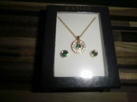 Brand New Necklace's and earring in boxes.