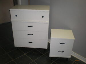 Beautiful 4 Drawer Wooden Dresser With Two Drawer Nightstand