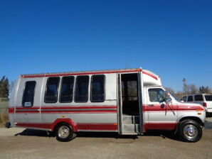 1990 FORD ECONOLINE-E350 RV CUTAWAY-WHEEL CHAIR VAN-ONLY 61,000K