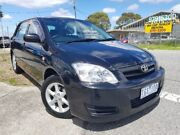 2004 Toyota Corolla ZZE122R 5Y Ascent Sport Black 4 Speed Automatic Hatchback Dandenong Greater Dandenong Preview