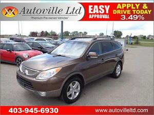 2010 Hyundai Veracruz GLS 7 Passenger Leather, Sunroof, 2DVD