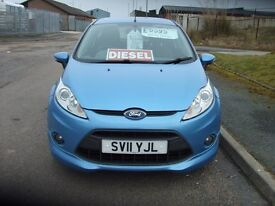 FORD FIESTA ZETEC S 1.6 TDCI 2011 11,ONE LADY OWNER.