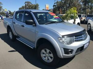 2014 Mitsubishi Triton MN MY15 GLX Double Cab Silver 5 Speed Manual Utility East Bunbury Bunbury Area Preview