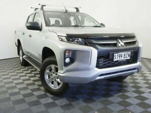 2018 Mitsubishi Triton MR MY19 GLX+ Double Cab Silver 6 Speed Manual Utility Wayville Unley Area Preview