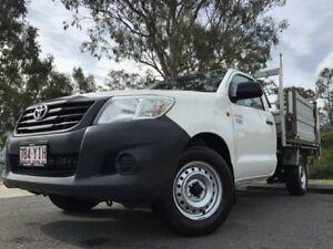 2014 Toyota Hilux 150 Work Mate White 5 Speed Manual Utility Kingston Logan Area Preview