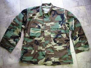 Woodland BDU US Army Combat Shirt Large