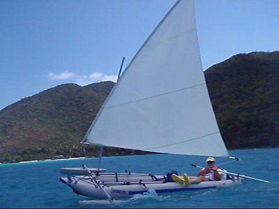 Sail for Super Snark, Sea Snark, canoe, etc.  All White .