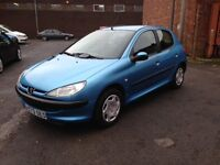 PEUGEOT 206 1.1 - ONLY 68'000 MILES - BRAND NEW M.O.T - IDEAL FIRST CAR
