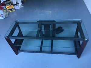 TV Stand: Modern Glass and Wood