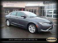 2015 Chrysler 200 Limited V6 ENGINE, HEATED SEATS!