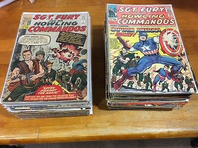 # 1 -100 SILVER SGT. FURY Kirby art  complete lot KEY issues CAPTAIN AMERICA 13