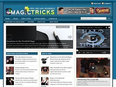 Magic Tricks Tips Resource Affiliate Niche Website For Sale