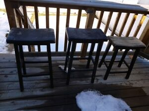 3 Wooden Bar Stools - Project pieces
