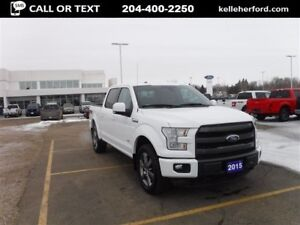 2015 Ford F-150 Lariat CrewCab 4x4 with Moonroof